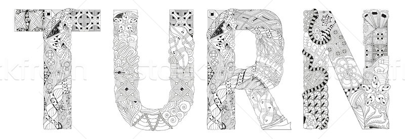 Kelime çevirmek vektör dekoratif nesne sanat Stok fotoğraf © Natalia_1947
