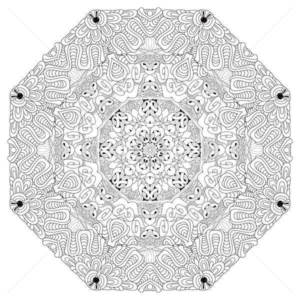 Mandala Vector Adult Carte De Colorat Ilustratie