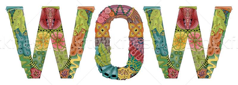 Słowo wow wektora dekoracyjny obiektu sztuki Zdjęcia stock © Natalia_1947