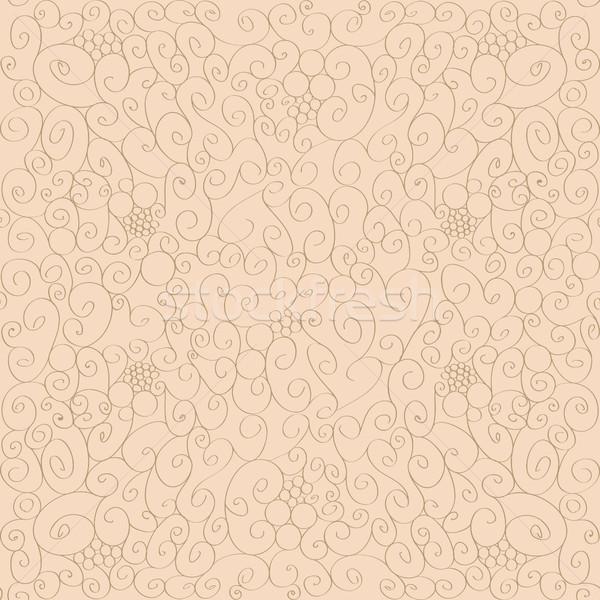 Sin costura floral ilustración disenador trabajo marco Foto stock © Natalia_1947