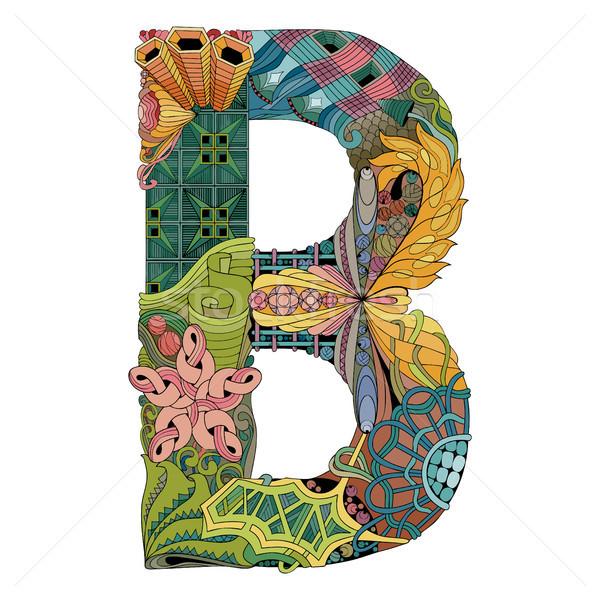 Mektup vektör dekoratif nesne sanat dizayn Stok fotoğraf © Natalia_1947