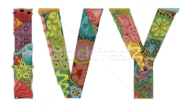 言葉 ツタ ベクトル 装飾的な オブジェクト 芸術 ストックフォト © Natalia_1947