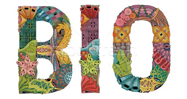 Woord bio vector decoratief object kunst Stockfoto © Natalia_1947