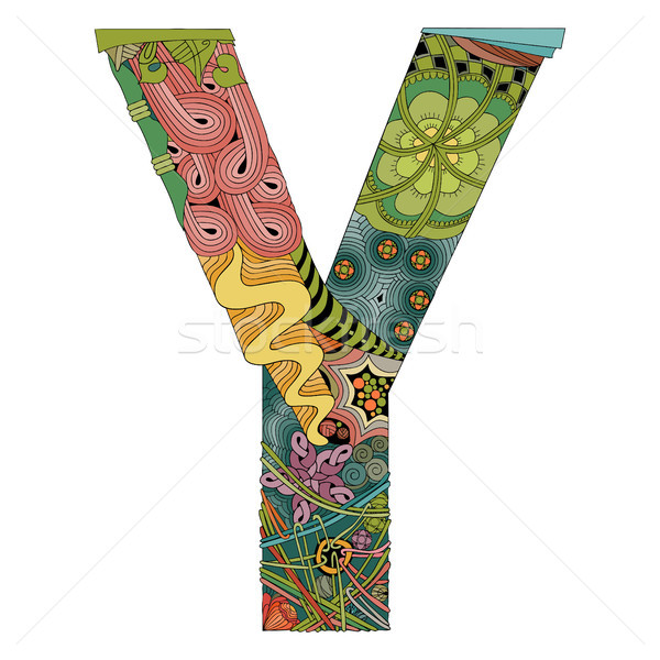 Letter Y zentangle. Vector decorative object Stock photo © Natalia_1947