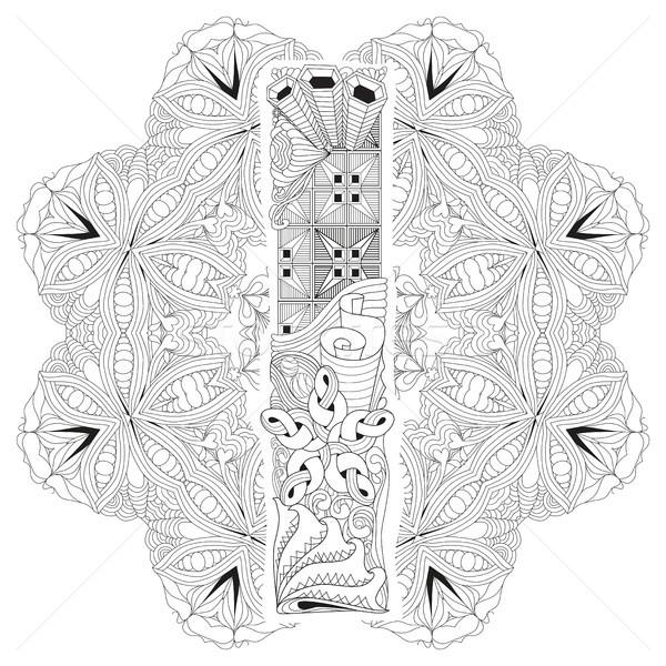 Mandala litera i wektora dekoracyjny sztuki projektu Zdjęcia stock © Natalia_1947