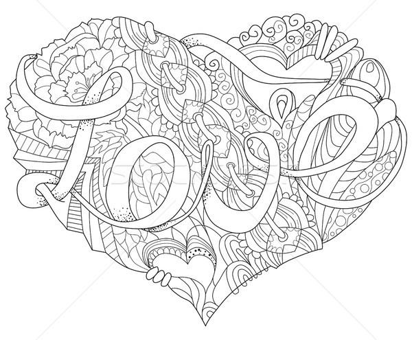 болван сердце иллюстрация вектора взрослый Сток-фото © Natalia_1947