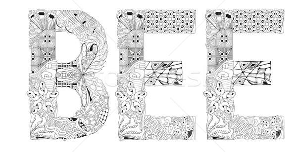 Słowo Pszczoła wektora dekoracyjny obiektu sztuki Zdjęcia stock © Natalia_1947