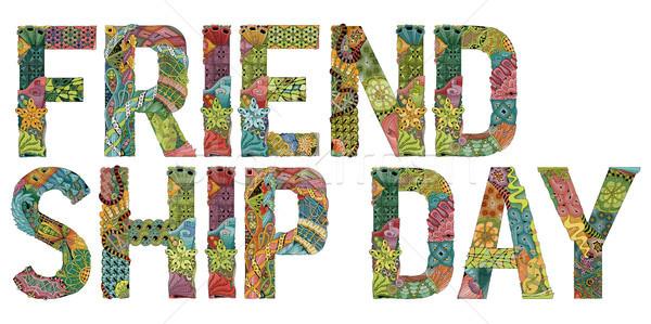 単語 友情 日 ベクトル 装飾的な オブジェクト ストックフォト © Natalia_1947
