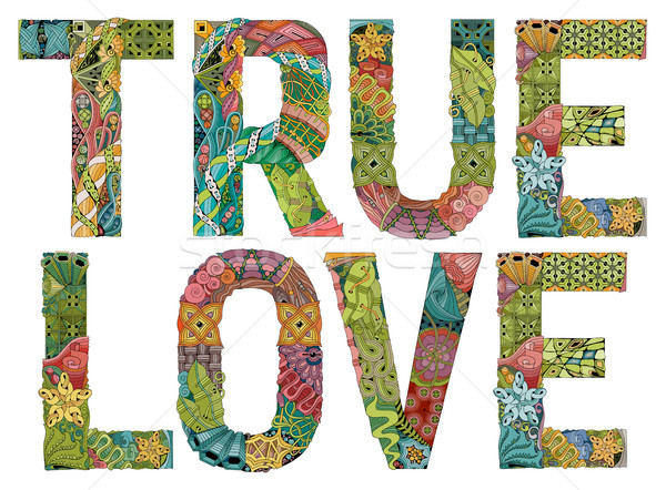 True love. Vector decorative zentangle object Stock photo © Natalia_1947