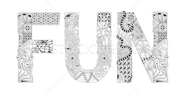 Kelime eğlence vektör dekoratif nesne sanat Stok fotoğraf © Natalia_1947
