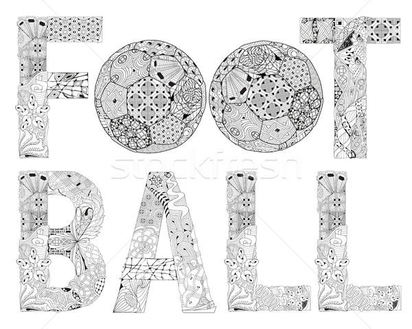 Word football for coloring. Vector decorative zentangle object Stock photo © Natalia_1947