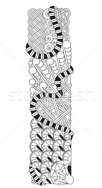 Letter i vector decoratief object kunst ontwerp Stockfoto © Natalia_1947