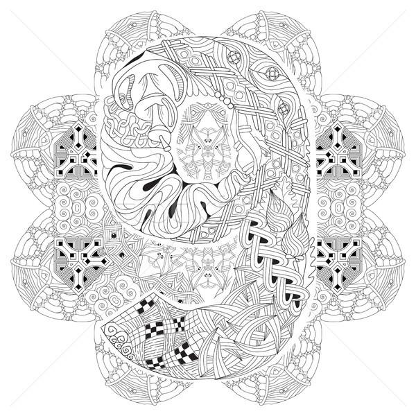 Mandala nueve vector decorativo arte diseno Foto stock © Natalia_1947
