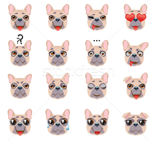 French bulldog Dog Emoji Emoticon Expression Stock photo © Natalia_1947