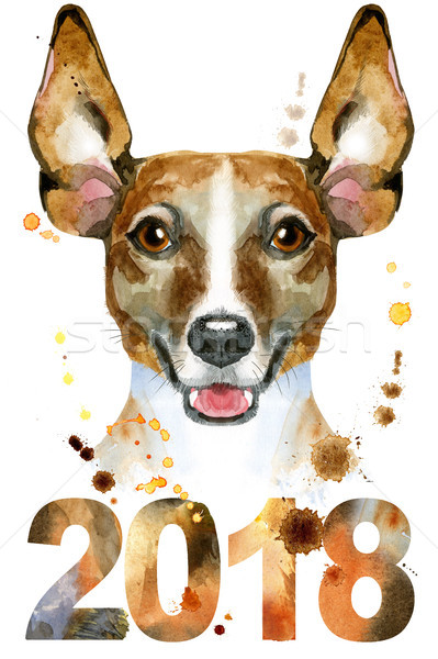 Watercolor portrait of jack russell terrier Stock photo © Natalia_1947