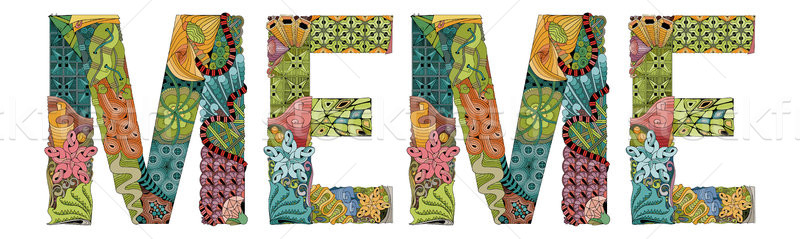 Word MEME. Vector decorative zentangle object Stock photo © Natalia_1947