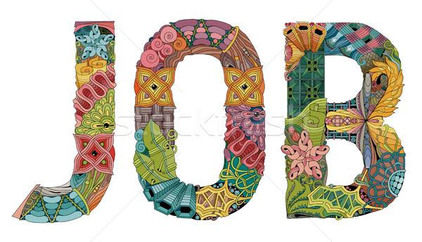 Word JOB. Vector decorative zentangle object Stock photo © Natalia_1947