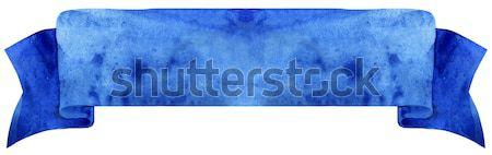 акварель синий лента иллюстрация флаг Сток-фото © Natalia_1947
