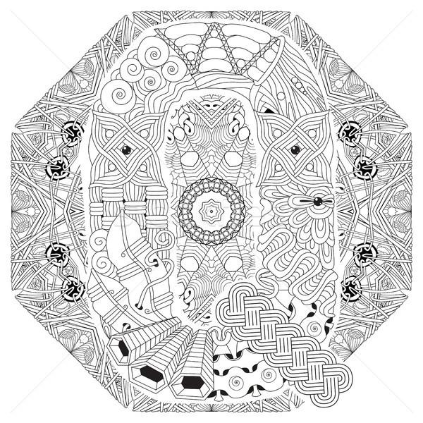 Mandala vector decorativo arte diseno Foto stock © Natalia_1947