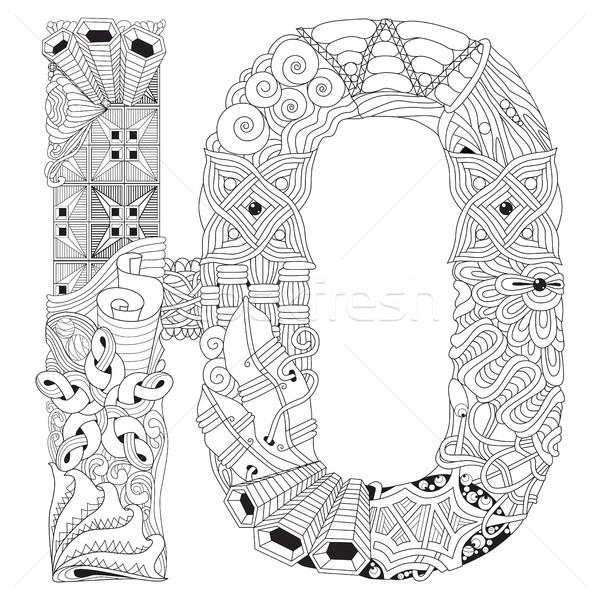 Foto stock: Ruso · carta · vector · decorativo · objeto · arte
