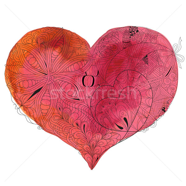 Sketchy Doodle Heart Illustration Stock photo © Natalia_1947