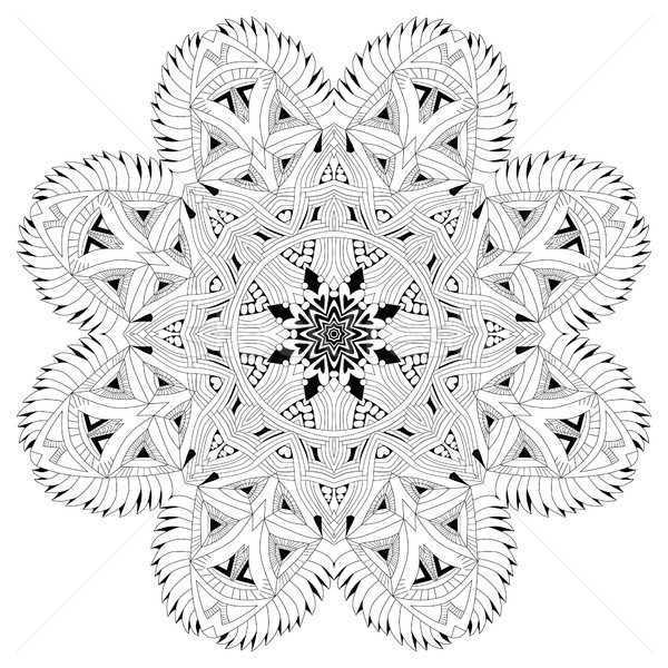 Hand drawn zentangle mandala for coloring page. Stock photo © Natalia_1947