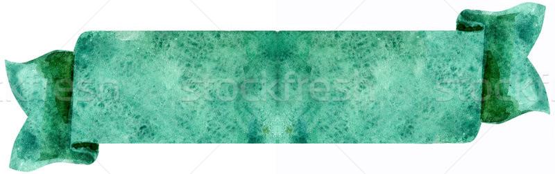 水彩画 エメラルド バナー 実例 フラグ ストックフォト © Natalia_1947