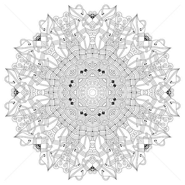 Mandala Sayfa Vektor Yetiskin Boyama Kitabi Vektor