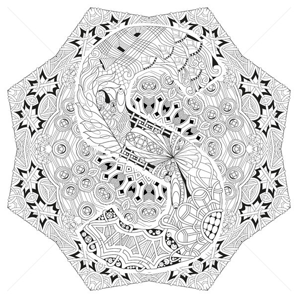 Mandala with letter S for coloring. Vector decorative zentangle Stock photo © Natalia_1947
