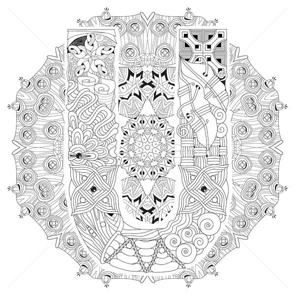 Mandala mektup vektör dekoratif sanat dizayn Stok fotoğraf © Natalia_1947
