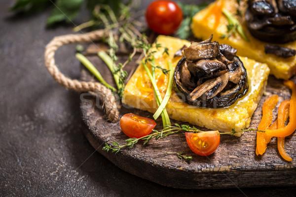 Mais funghi melanzane tradizionale cucina italiana Foto d'archivio © Natalya_Maiorova