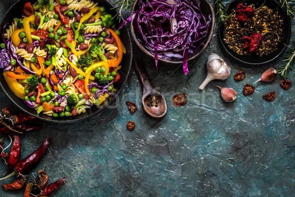 пасты Салат брокколи овощей капуста томатный Сток-фото © Natalya_Maiorova