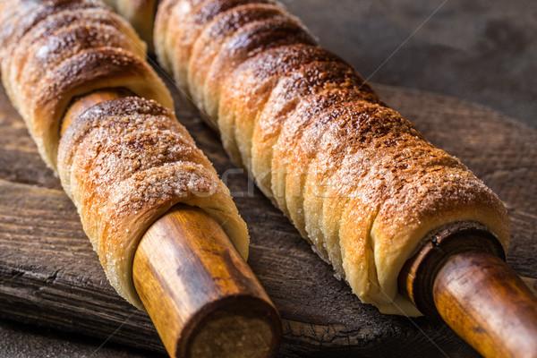 Húngaro tradicional pão sobremesa cozinhado Foto stock © Natalya_Maiorova