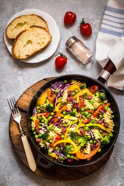 Pasta insalata broccoli verdura cavolo pomodoro Foto d'archivio © Natalya_Maiorova