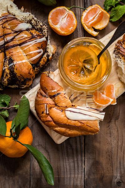 Jam dolce pane arance Foto d'archivio © Natalya_Maiorova