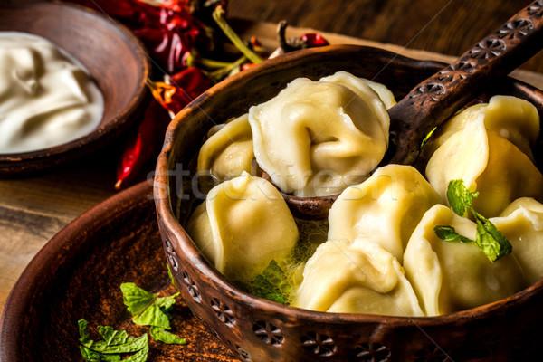 Russo carne brodo rustico stile erbe Foto d'archivio © Natalya_Maiorova