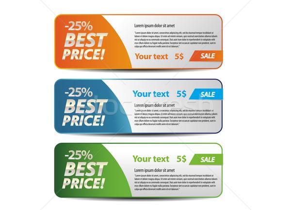 En iyi fiyat afişler yalıtılmış beyaz kâğıt imzalamak Stok fotoğraf © Natashasha