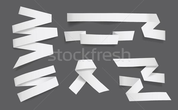 Beyaz boş kağıt yalıtılmış sanat web Stok fotoğraf © Natashasha
