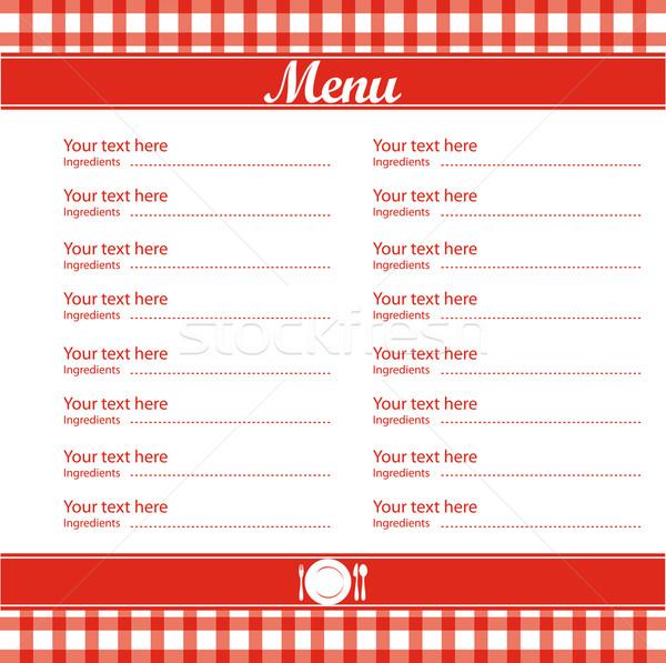 ресторан меню шаблон красный аннотация Сток-фото © Natashasha