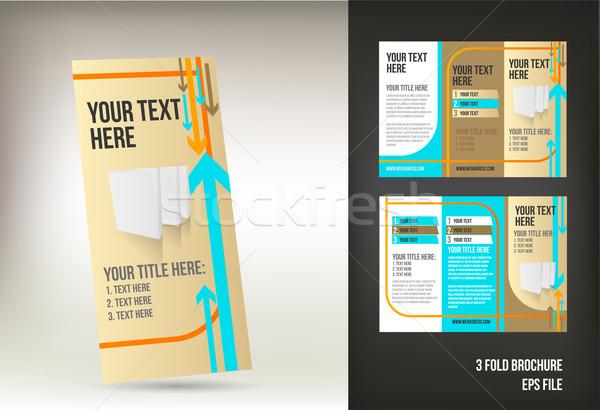 ретро брошюра изолированный бизнеса аннотация дизайна Сток-фото © Natashasha
