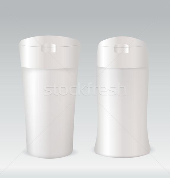 Cosmético recipiente garrafa chuveiro gel corpo Foto stock © Natashasha