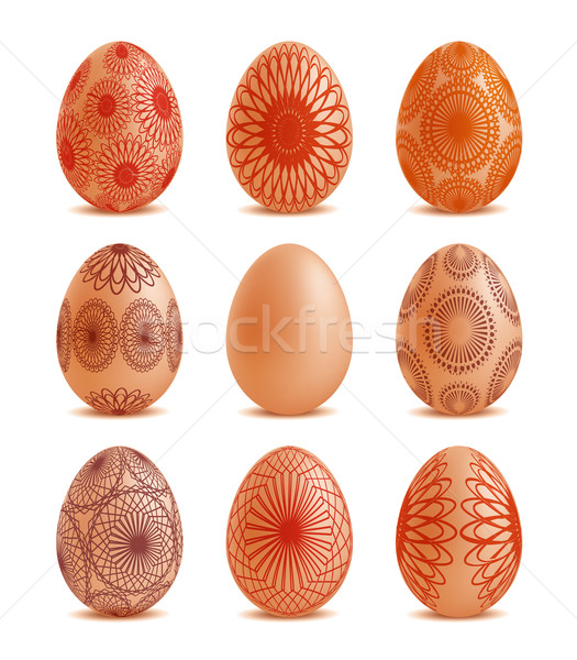 Easter eggs with ornaments Stock photo © Natashasha