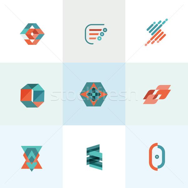 современных бизнеса набор иконки компьютер дизайна Сток-фото © Natashasha