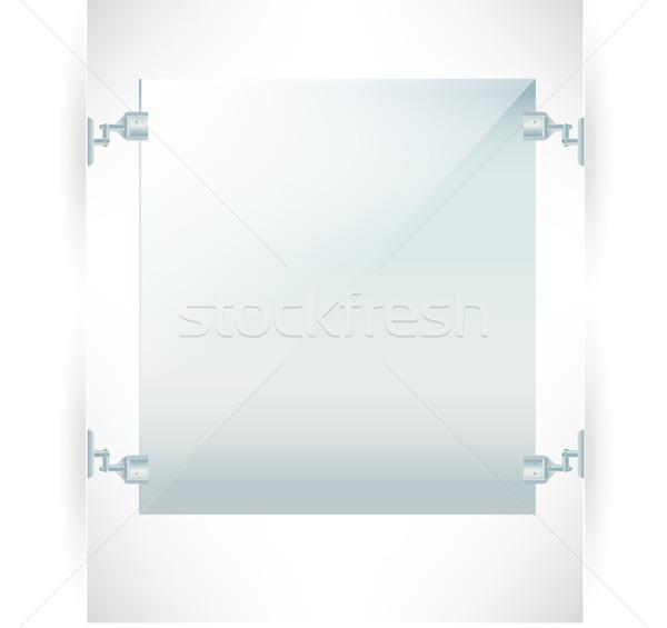 Reclame muur frame geïsoleerd business abstract Stockfoto © Natashasha