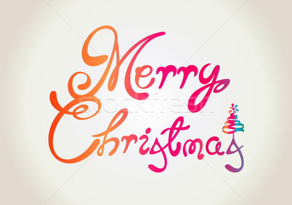 Merry Christmas text design Stock photo © Natashasha