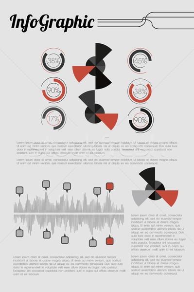 Retro Infographic Stock photo © Natashasha