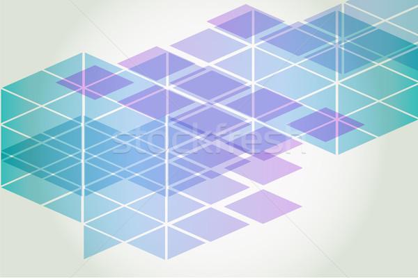 Zdjęcia stock: Streszczenie · wektora · geometryczny · elementy · farby · ramki
