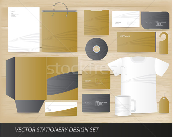 Photo stock: Vecteur · papeterie · design · bureau · résumé