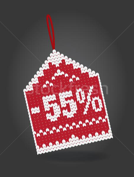 Yüzde indirim fiyat etiket yalıtılmış finanse Stok fotoğraf © Natashasha