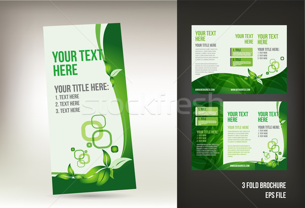 Eco green brochure design Stock photo © Natashasha